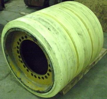 36x36x30 Polyurethane Press-on tire/wheel assembly