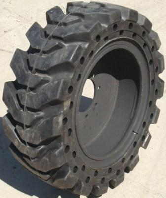 TY Cushion solid skid steer tire/wheel assembly